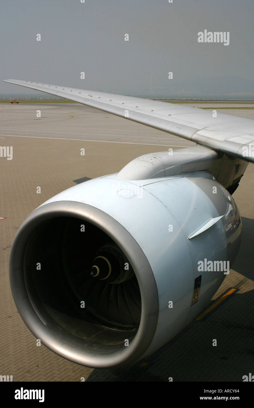 Boeing 777 - Rolls Royce 884 Trent Engines - Stock Image