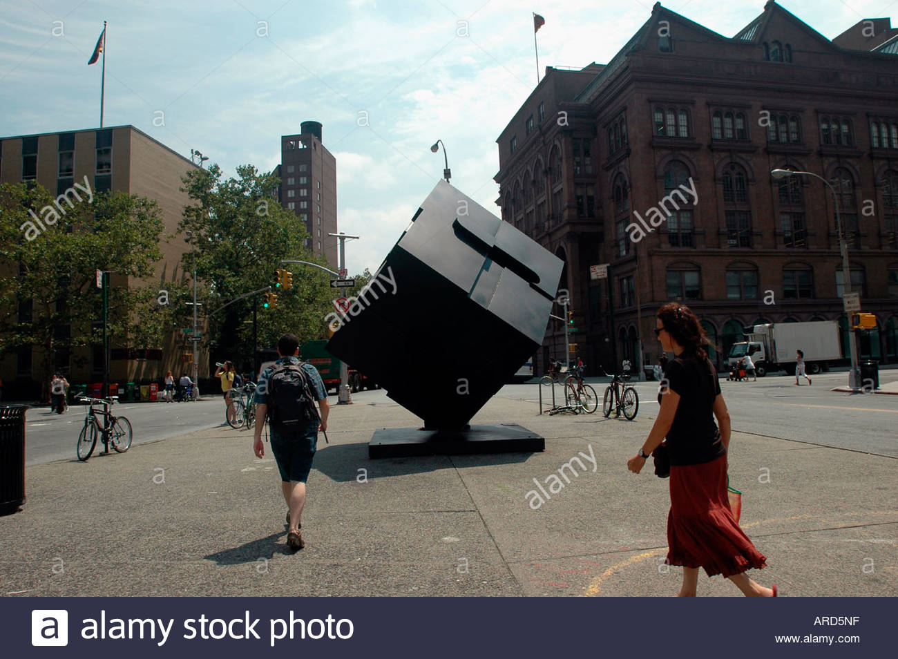 Alamo sculpture in Astor Place in the East Village in NYC - Stock Image