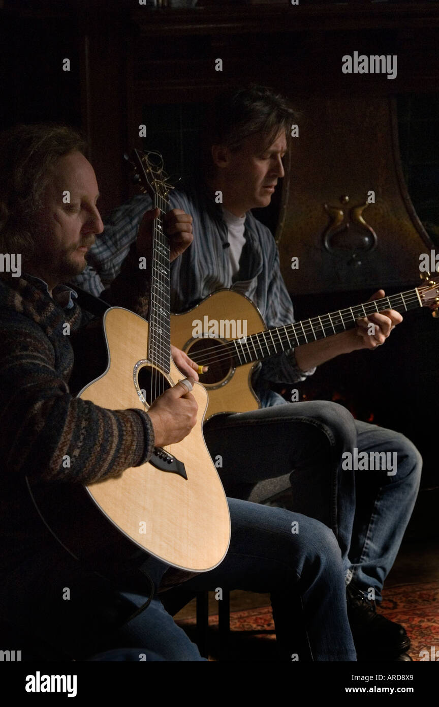 Steel String Acoustic Guitars Stock Photos Taylor Guitar Wiring Diagram Hand Made Being Played By Duo Pete Smith And John Buckley 2006