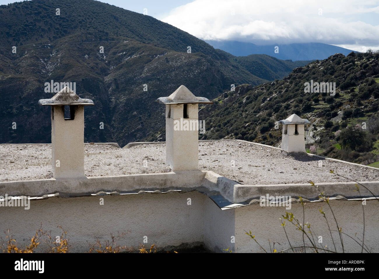 Andalucian chimney pots - Stock Image