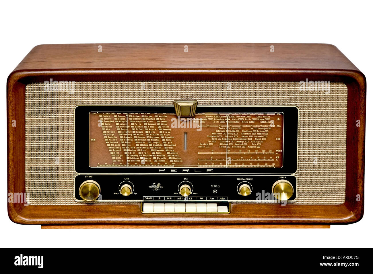 Old radio - Stock Image