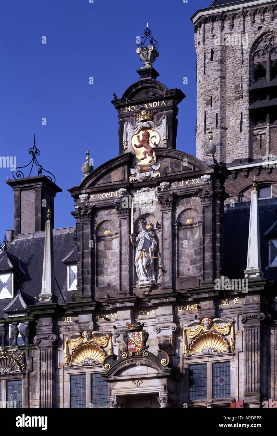 Delft, Stadhuis, Fassade - Stock Image