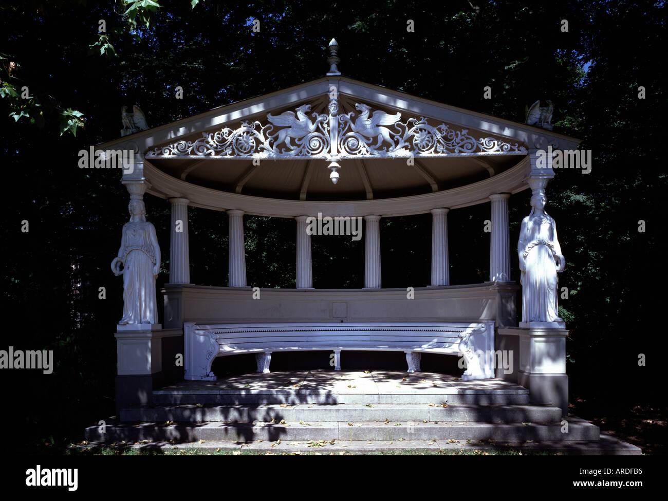 Ommen, Schloß Het Laar, Gartenpavillon - Stock Image