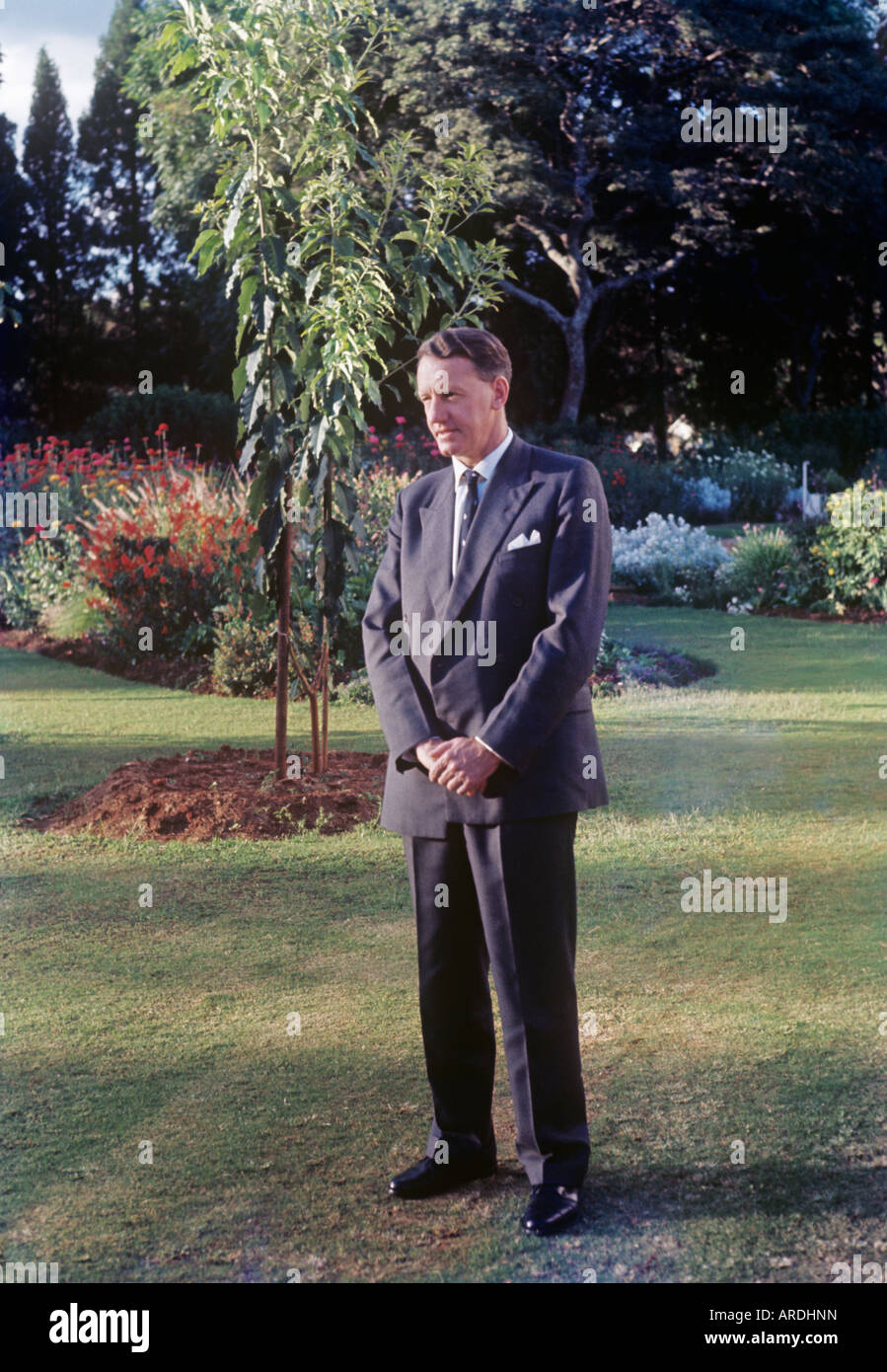 Ian Smith, prime minister of Rhodesia; in 1965 he declared UDI, unilateral declaration of independence, from Britain - Stock Image