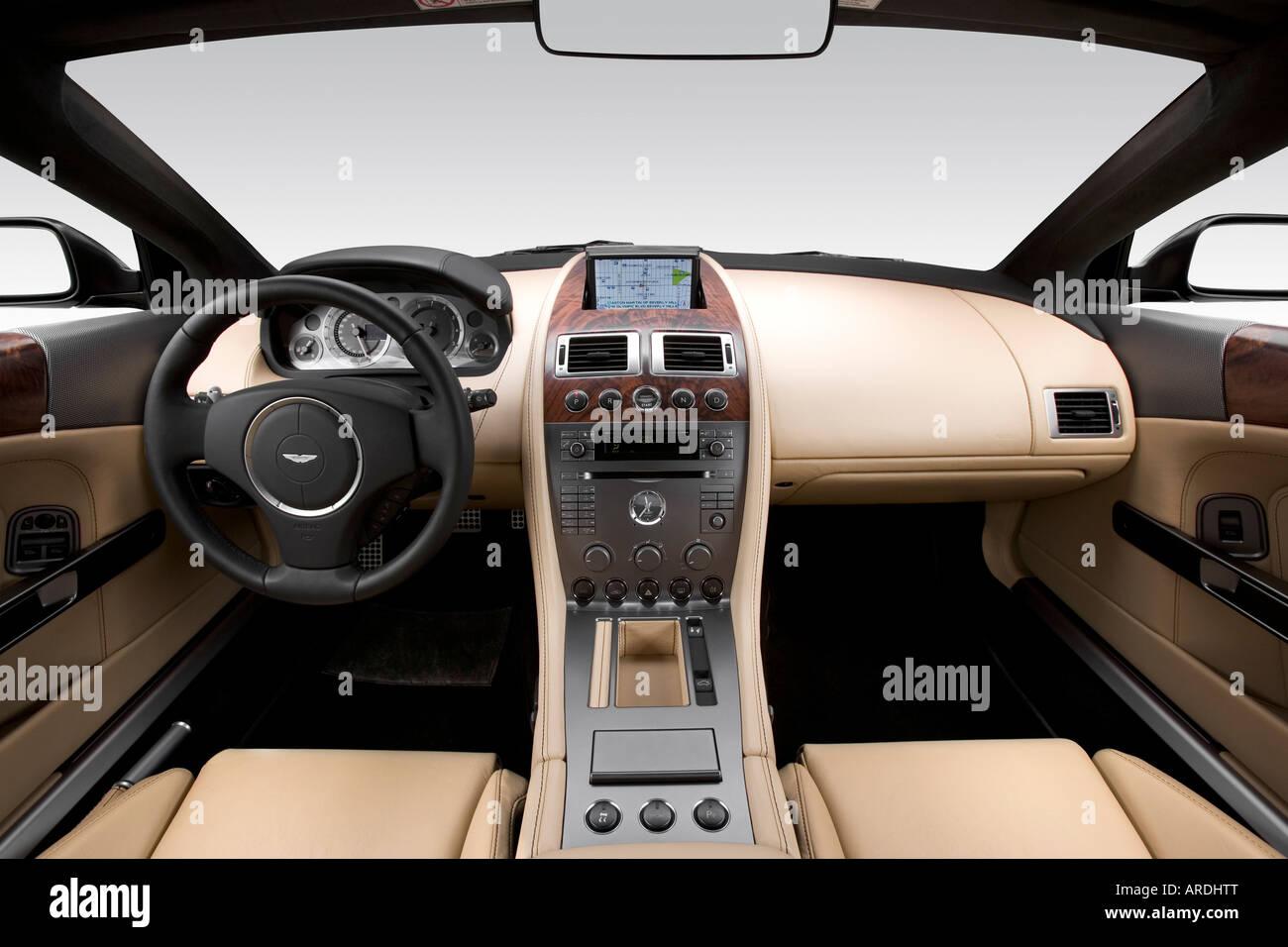2005 aston martin db9 in black - dashboard, center console, gear