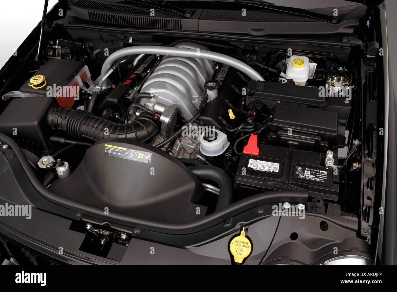 2006 Jeep Grand Cherokee Srt8 In Black Engine Stock Photo Alamy