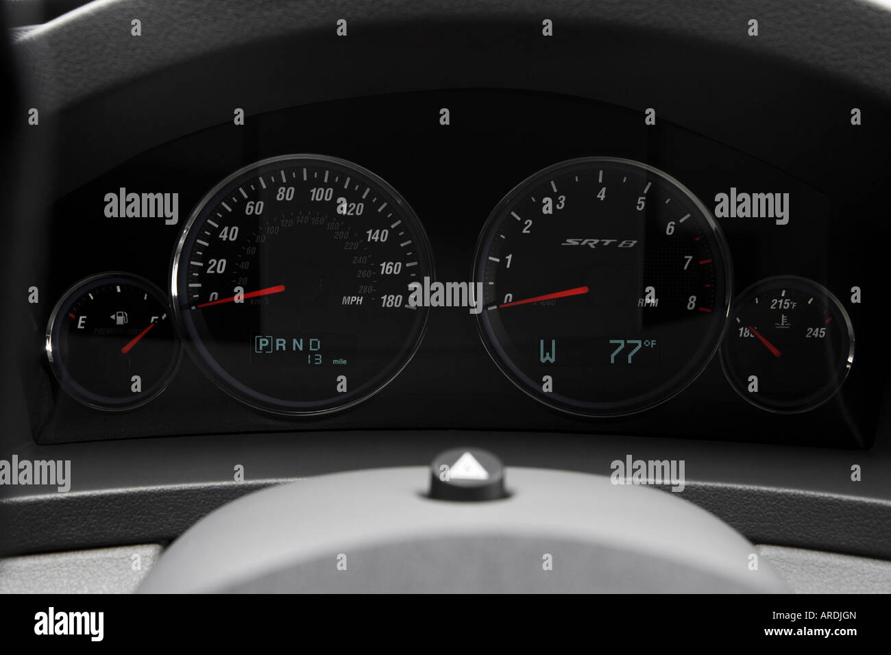 2006 Jeep Grand Cherokee SRT8 in Black - Speedometer/tachometer