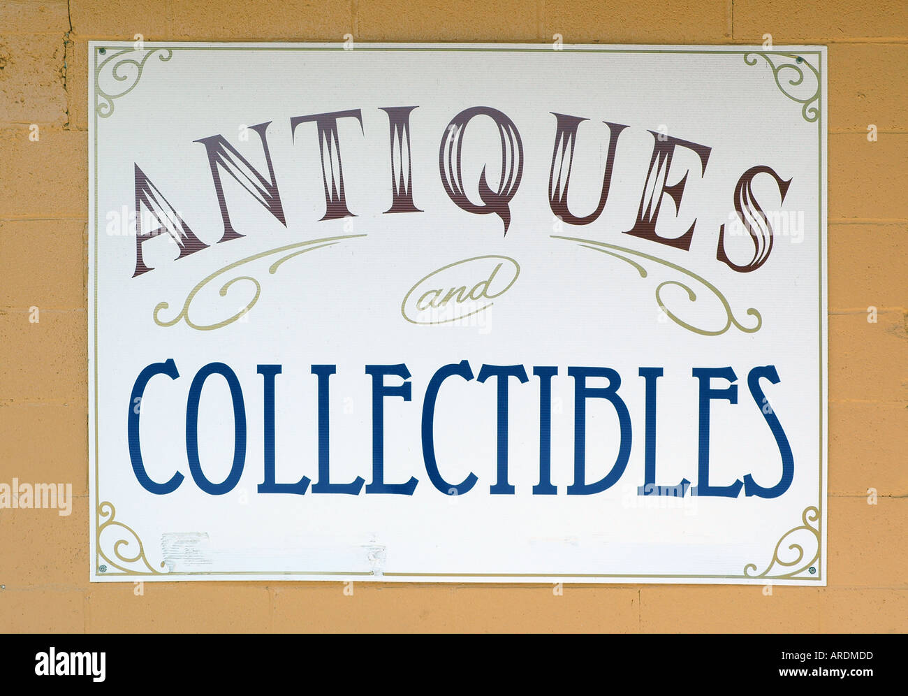 An Antiques And Collectibles Sign In Wayne Alberta Canada