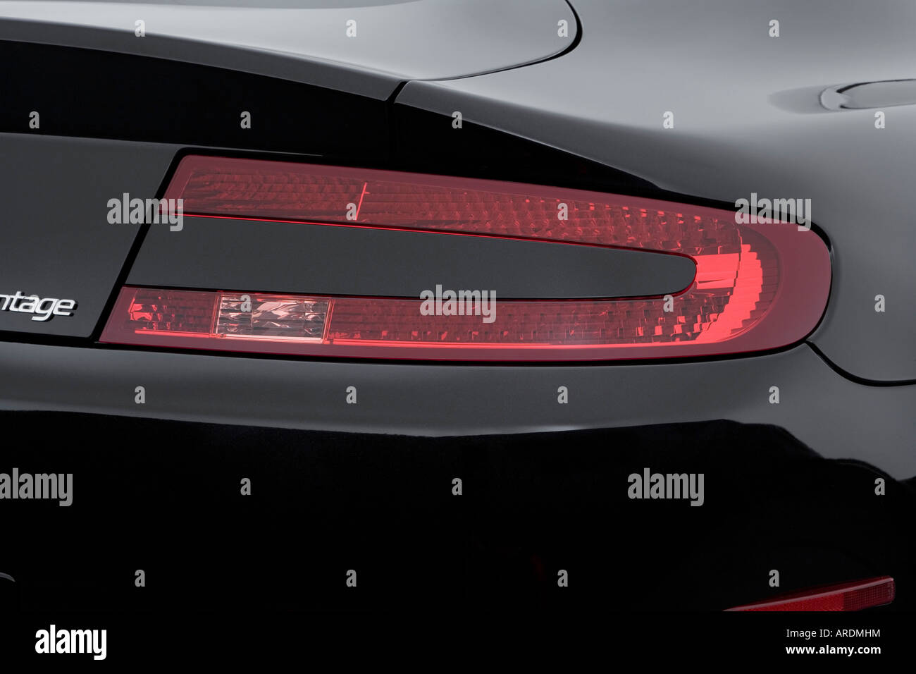 2006 Aston Martin V8 Vantage In Black Tail Light Stock Photo