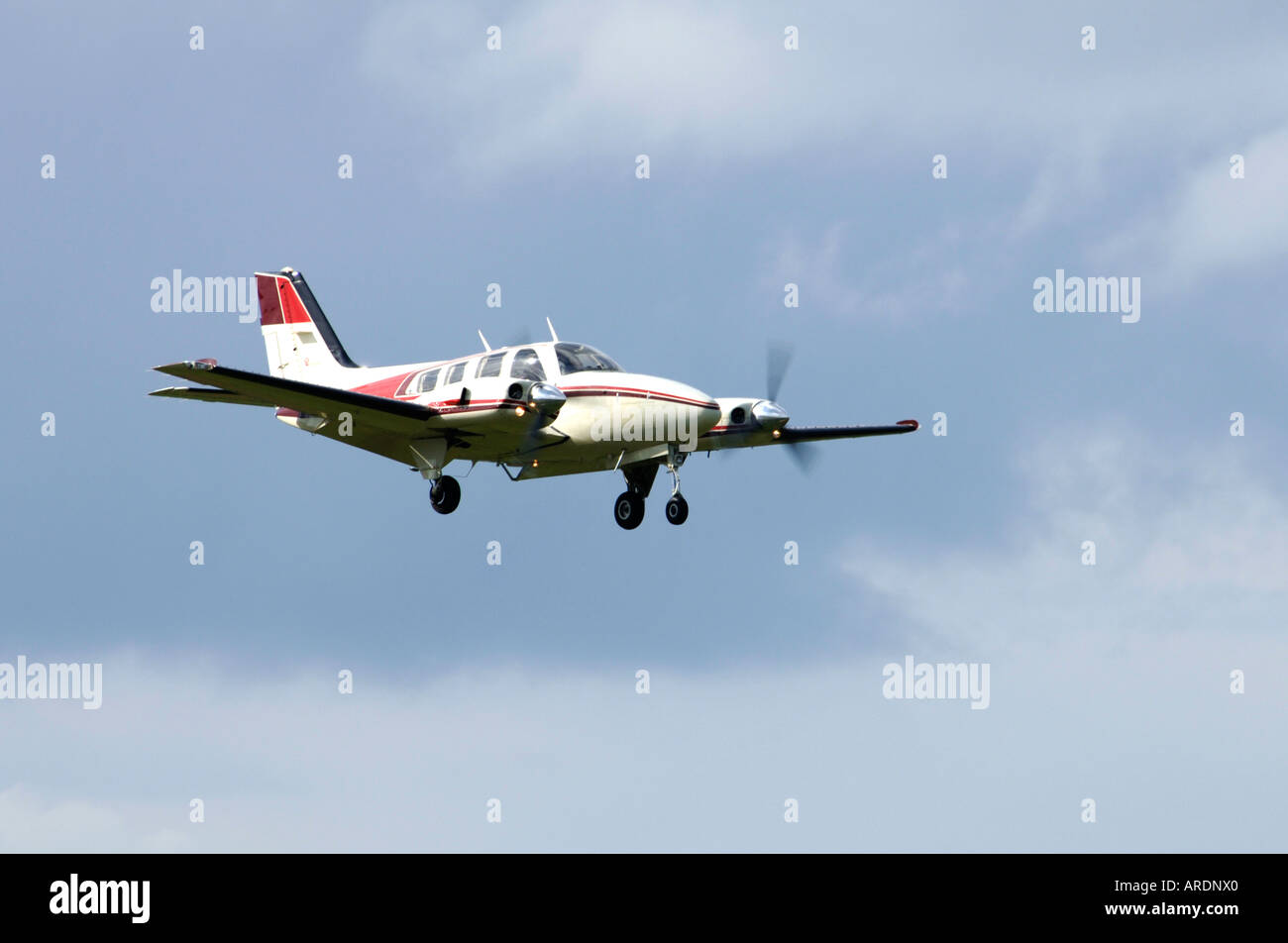 Beechcraft Baron 58 Civil utility aircraft  XAV 3574-347 Stock Photo