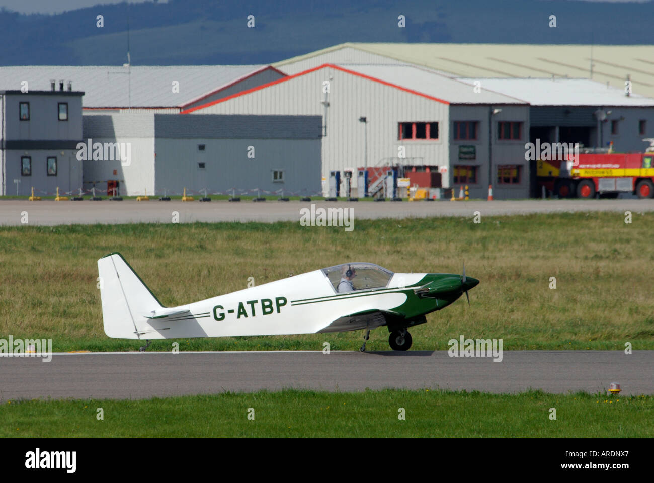 Fournier RF-3 1960s Motorised Glider Inverness Scotland.   XAV 3581-347 - Stock Image