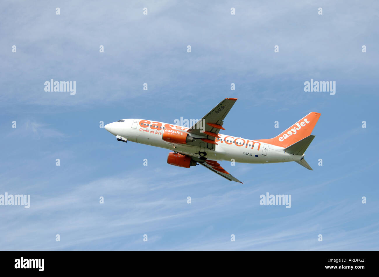 Easy Jet 737-700 Departing Inverness Airport for London.  XAV 3663-354 - Stock Image