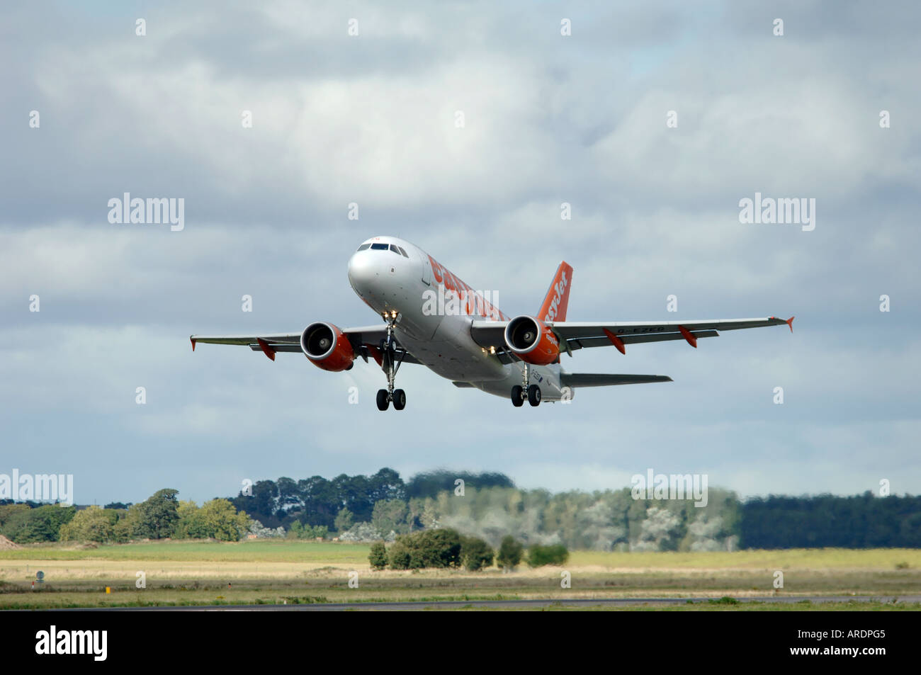 Easy Jet 737-700 Departing Inverness Dalcross Airport.  XAV 3664-354 - Stock Image