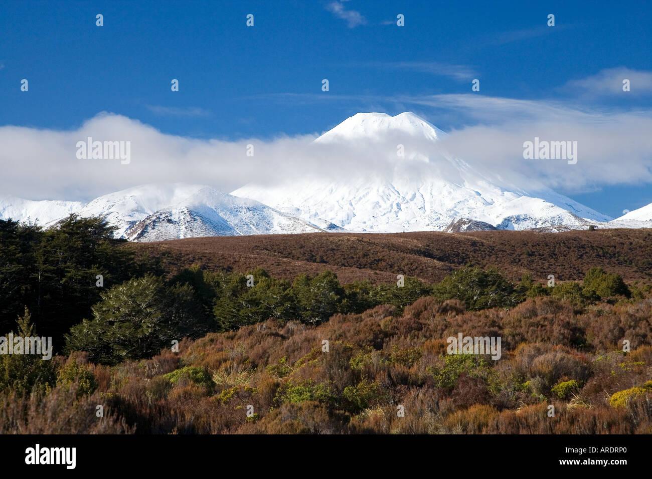 Mt Ngauruhoe Tongariro National Park Central Plateau North Island New Zealand - Stock Image