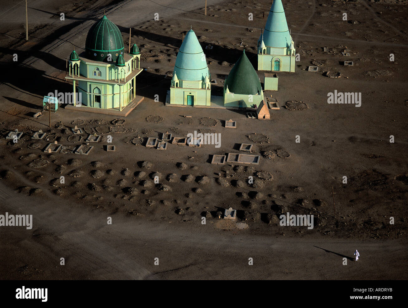 Sudanese qubbas structures built to hold the remains of Islamic holy men - Stock Image