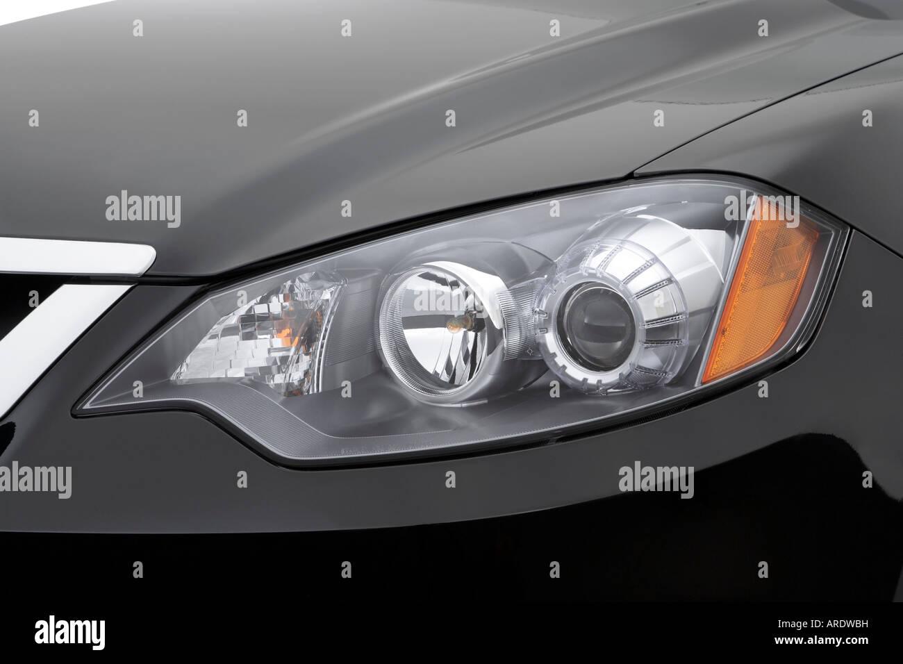 2007 Acura Rdx In Black Headlight Stock Photo Alamy