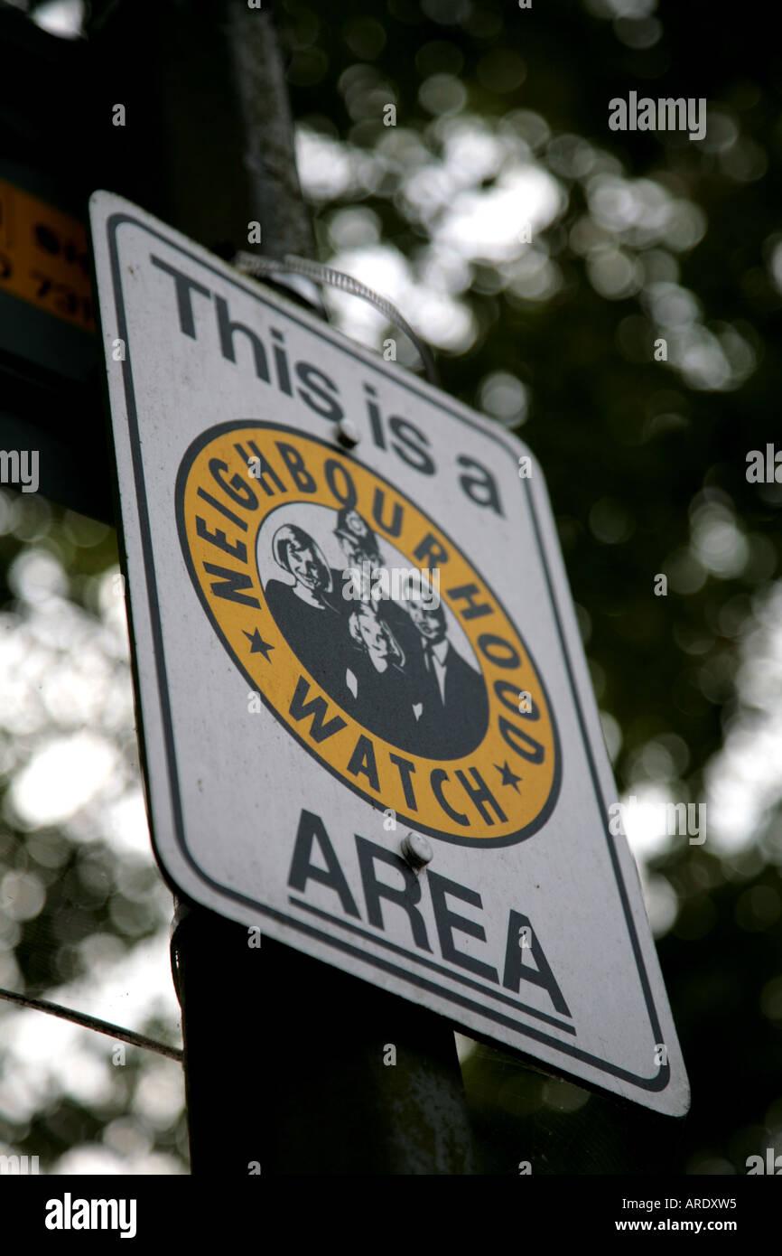 neighbourhood watch area - Stock Image