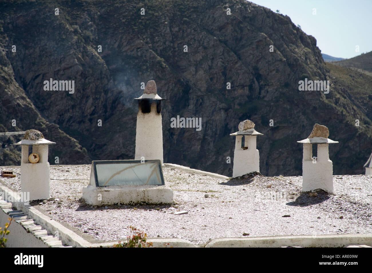 Andalucian Chimney pots Las Alpujarras Southern Spain - Stock Image
