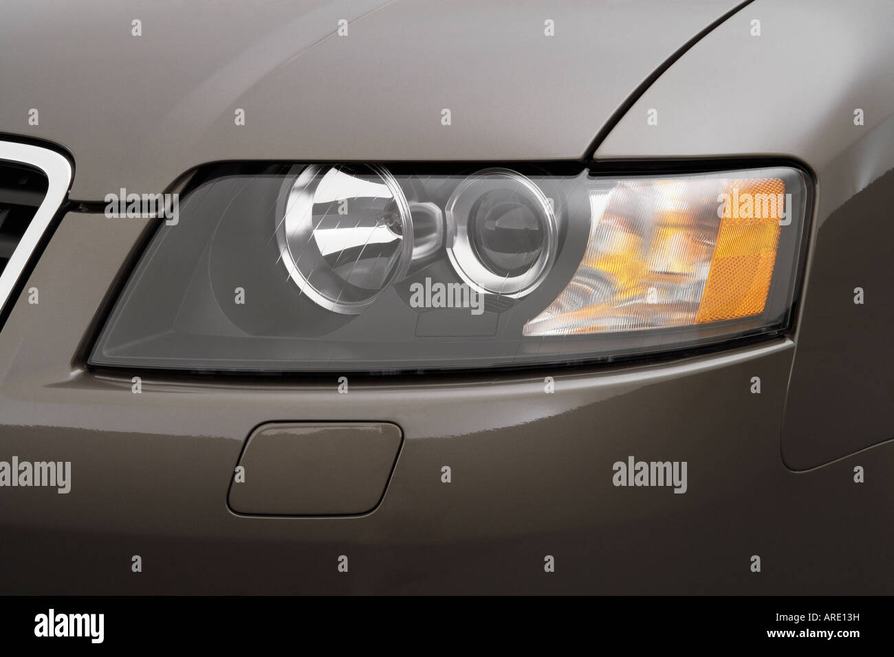 Audi A Cabriolet T In Beige Headlight Stock Photo - 2006 audi a4 headlights