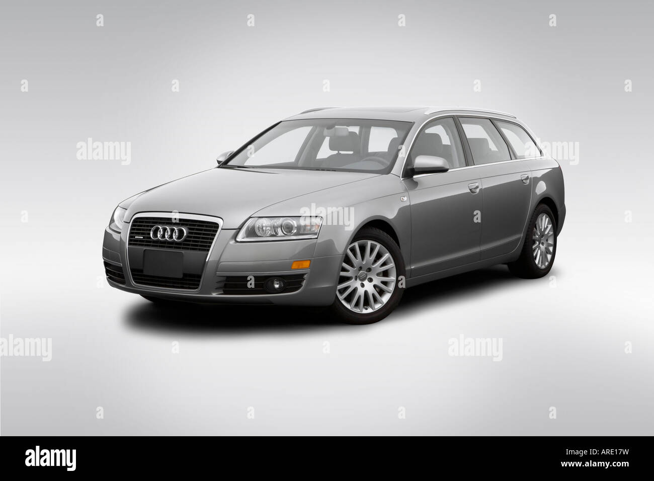 2006 Audi A6 Avant 32 Quattro In Gray Front Angle View Stock