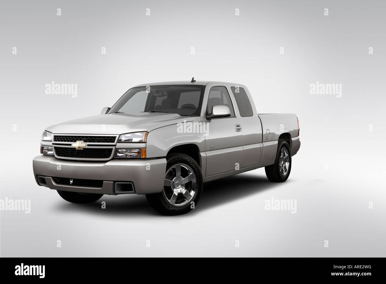 All Chevy chevy 1500 ss : 2006 Chevrolet Silverado 1500 SS in Silver - Front angle view ...