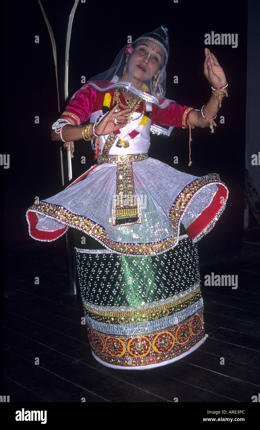 elaborate costume for Lai Haroba,the  Traditional classical dance of Manipur, North East India - Stock Image