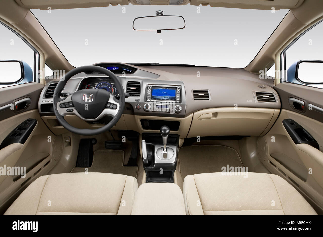 2006 honda civic hybrid in blue dashboard center. Black Bedroom Furniture Sets. Home Design Ideas