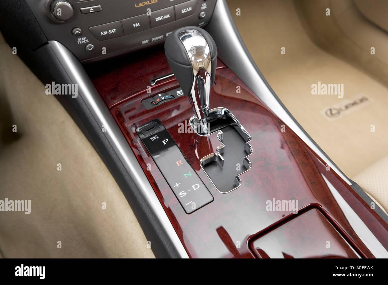 2006 Lexus IS 250 in Green - Gear shifter/center console