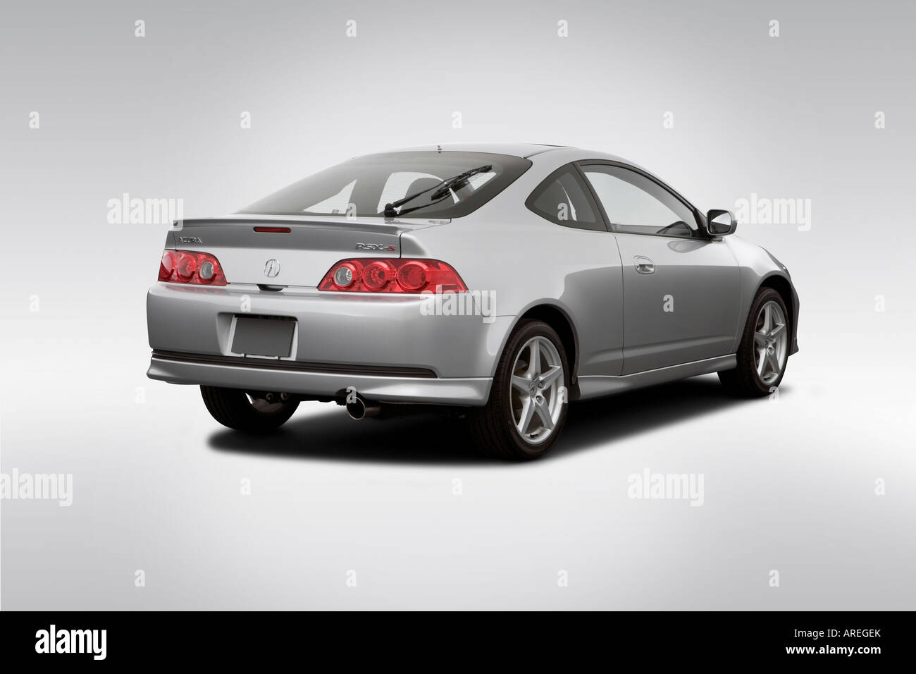 2006 Acura RSX Type-S in Silver - Rear angle view Stock