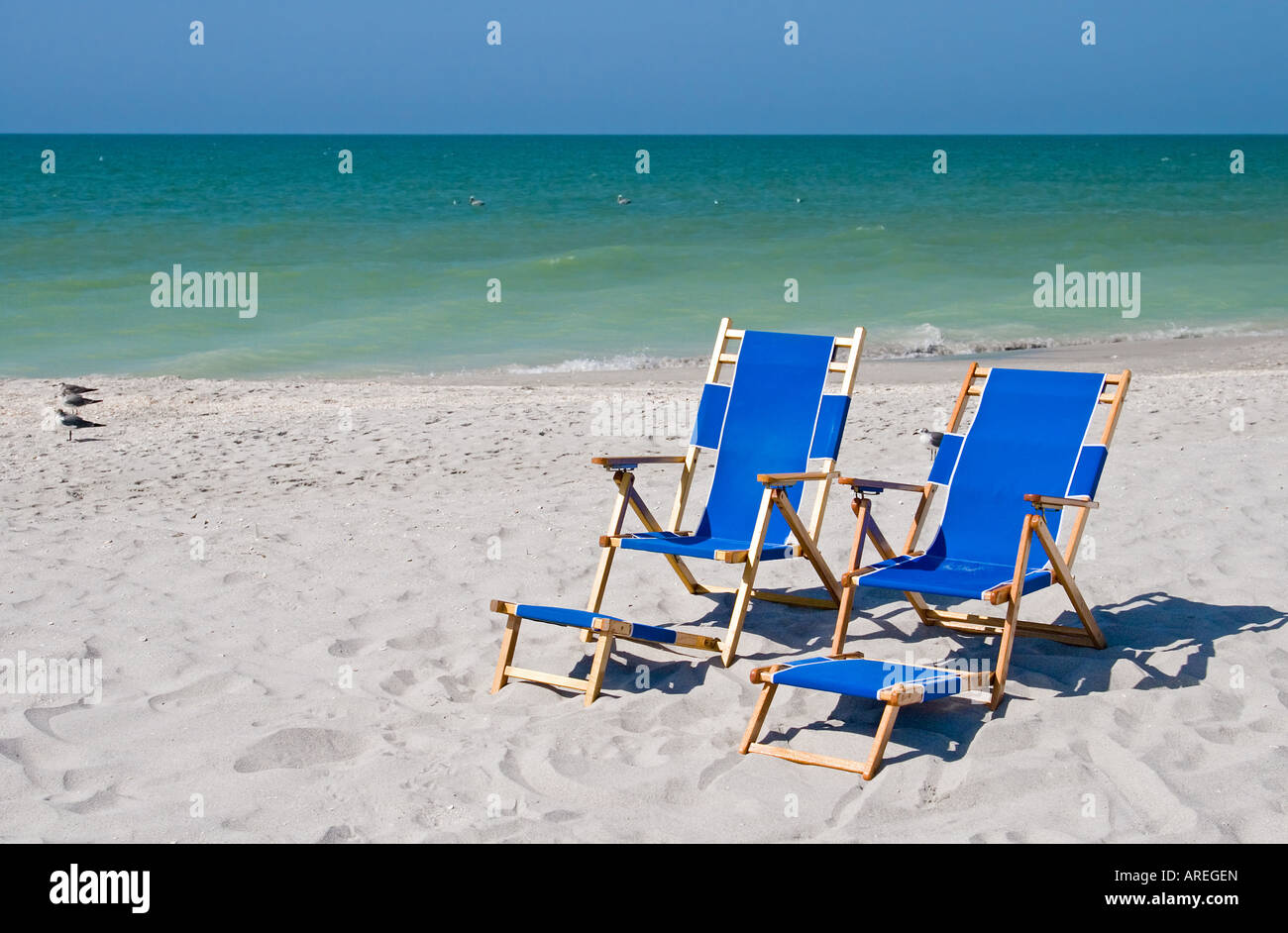 Beach and ocean scenics for vacations and summer getaways Stock Photo