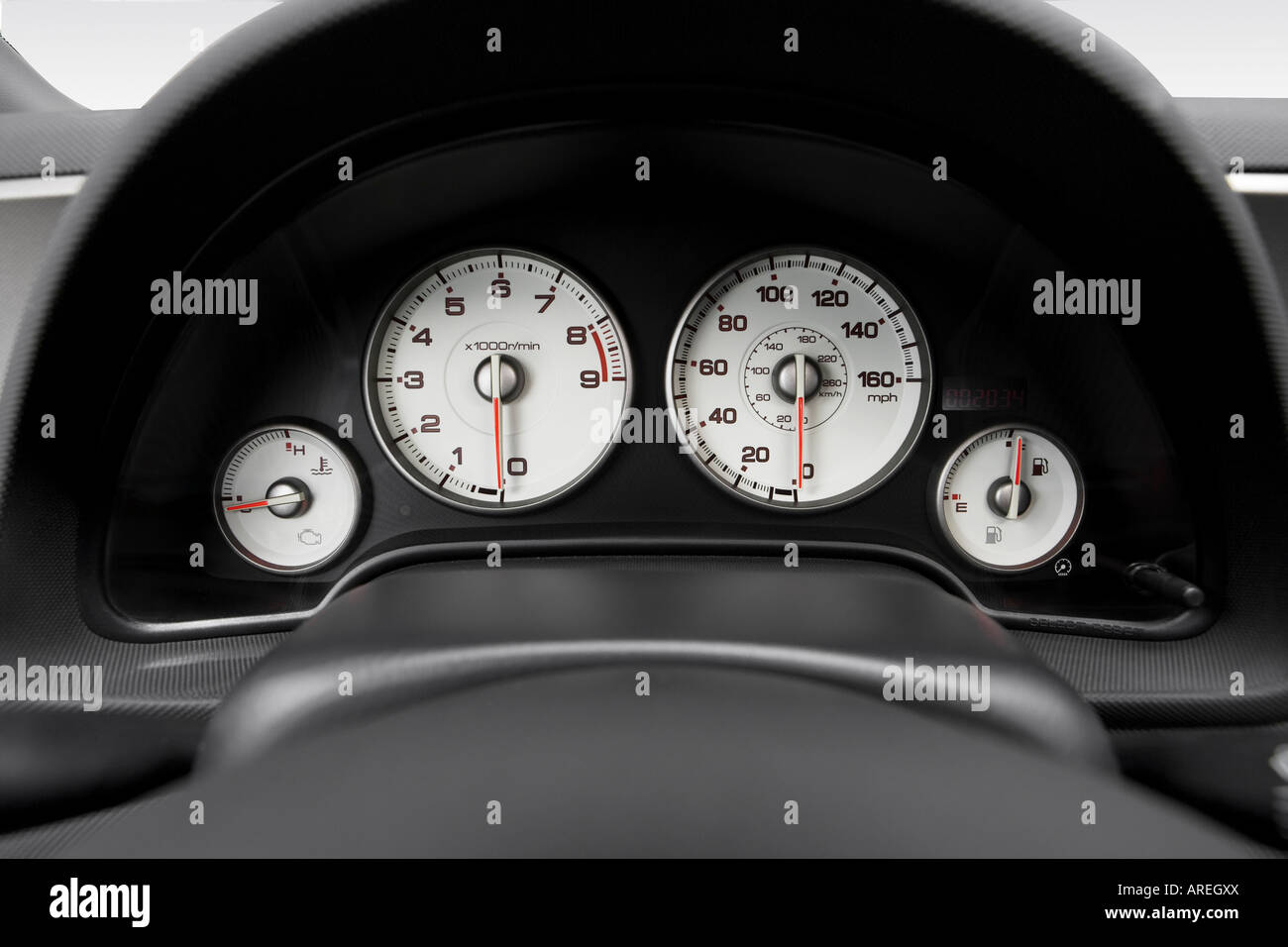 2006 Acura RSX Type-S in Silver - Speedometer/tachometer Stock Photo