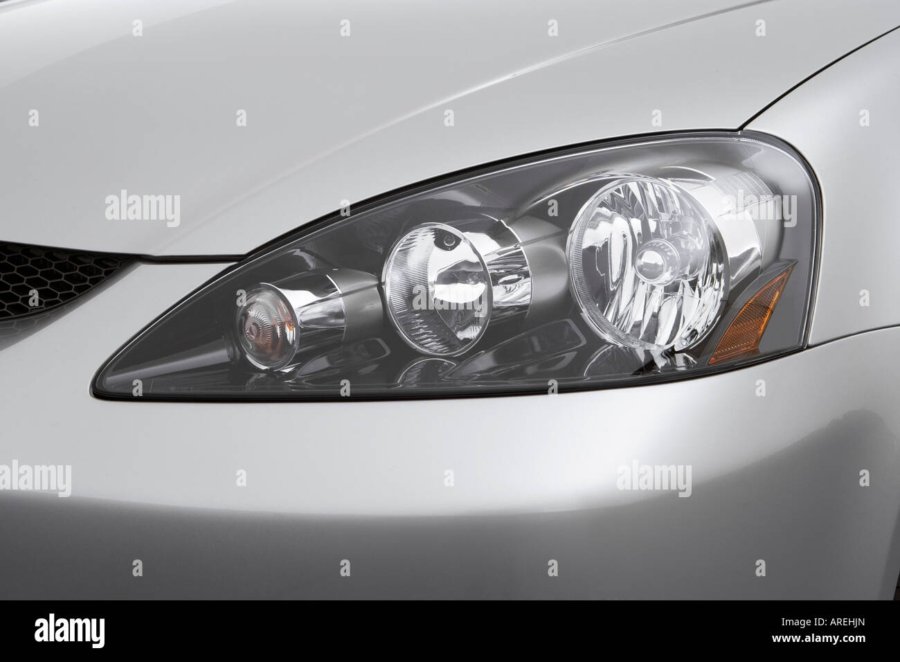 2006 acura rsx type s in silver headlight stock photo 16030892