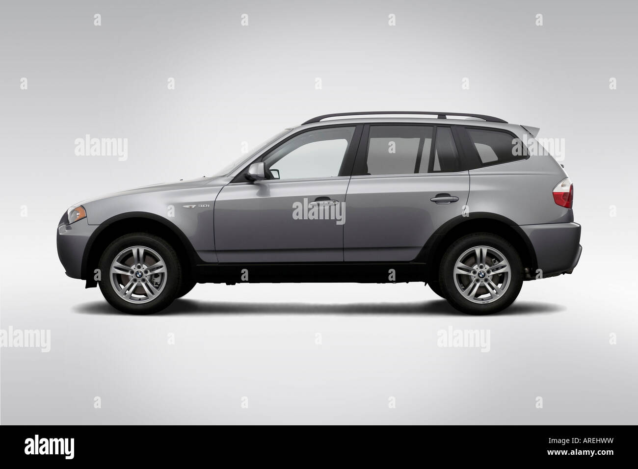 2006 BMW X3 3.0i in Silver - Drivers Side Profile Stock Photo ...
