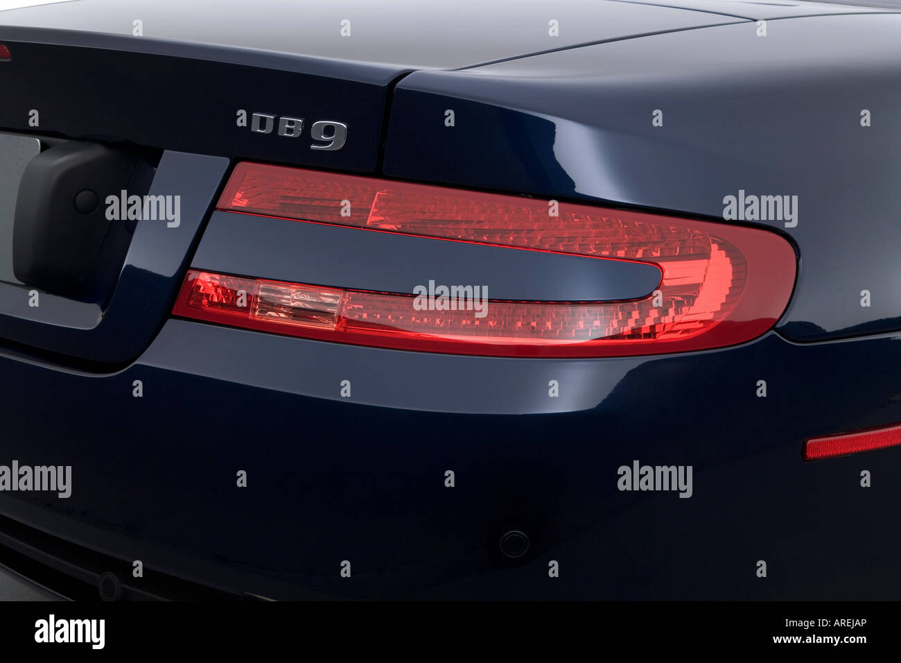 2006 Aston Martin Db9 Volante In Blue Tail Light Stock Photo