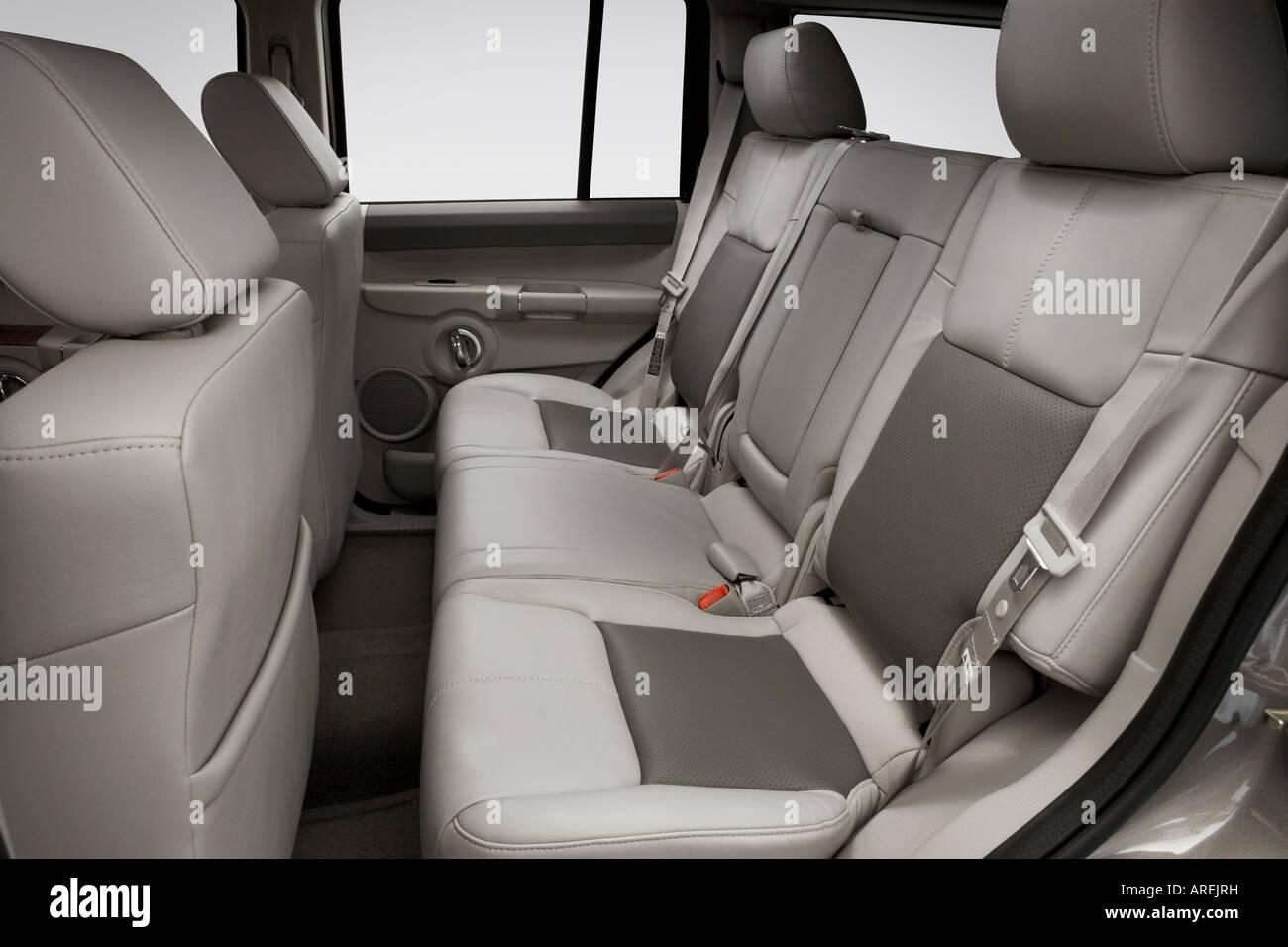 2006 Jeep Commander Limited In Beige Rear Seats Stock Photo