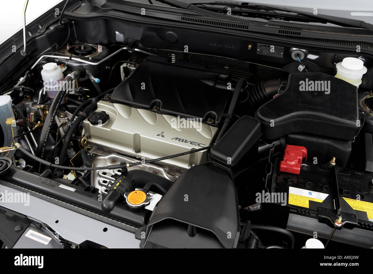 2006 Mitsubishi Outlander SE in Gray - Engine Stock Photo: 16031328