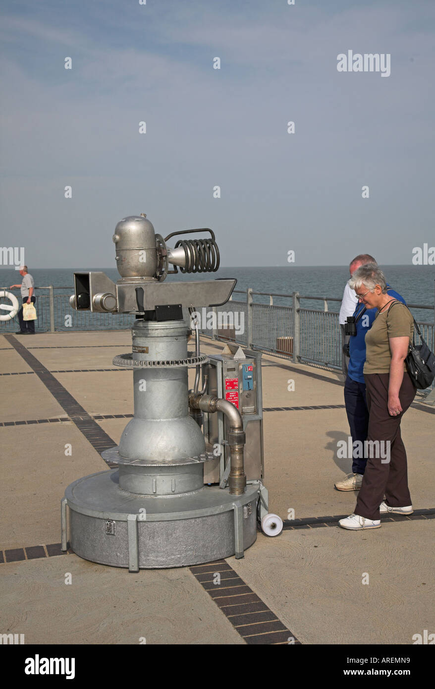 The Quantom Tunnelling Telescope by Tim Hunkin, Southwold pier, Suffolk, England - Stock Image