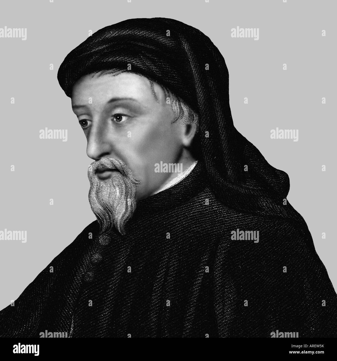Geoffrey Chaucer cartoon