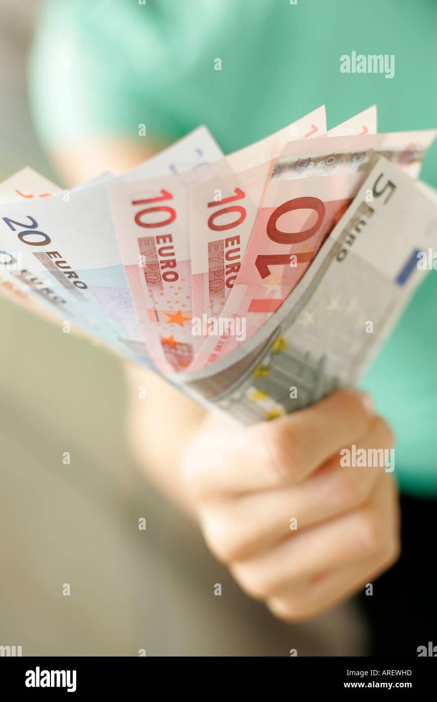Euro notes - Stock Image