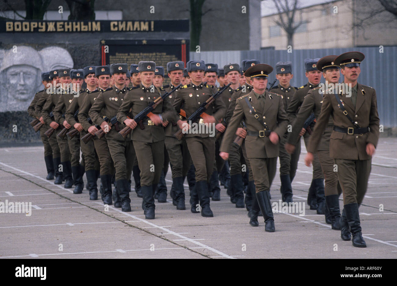 russian soldiers march barracks frankfurt oder eastern germany stock photo 16036394 alamy. Black Bedroom Furniture Sets. Home Design Ideas