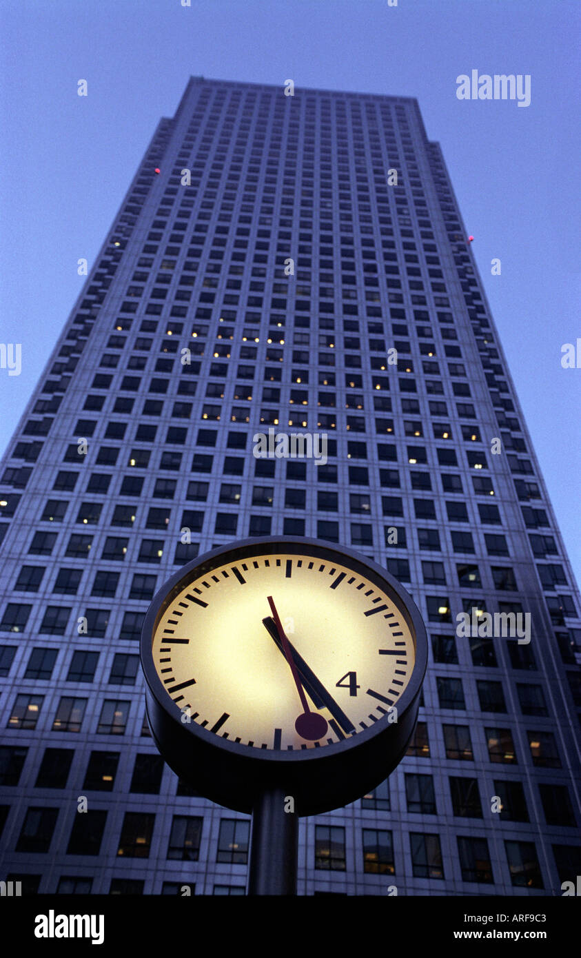 Canary Wharf,  Docklands, London's financial district. - Stock Image