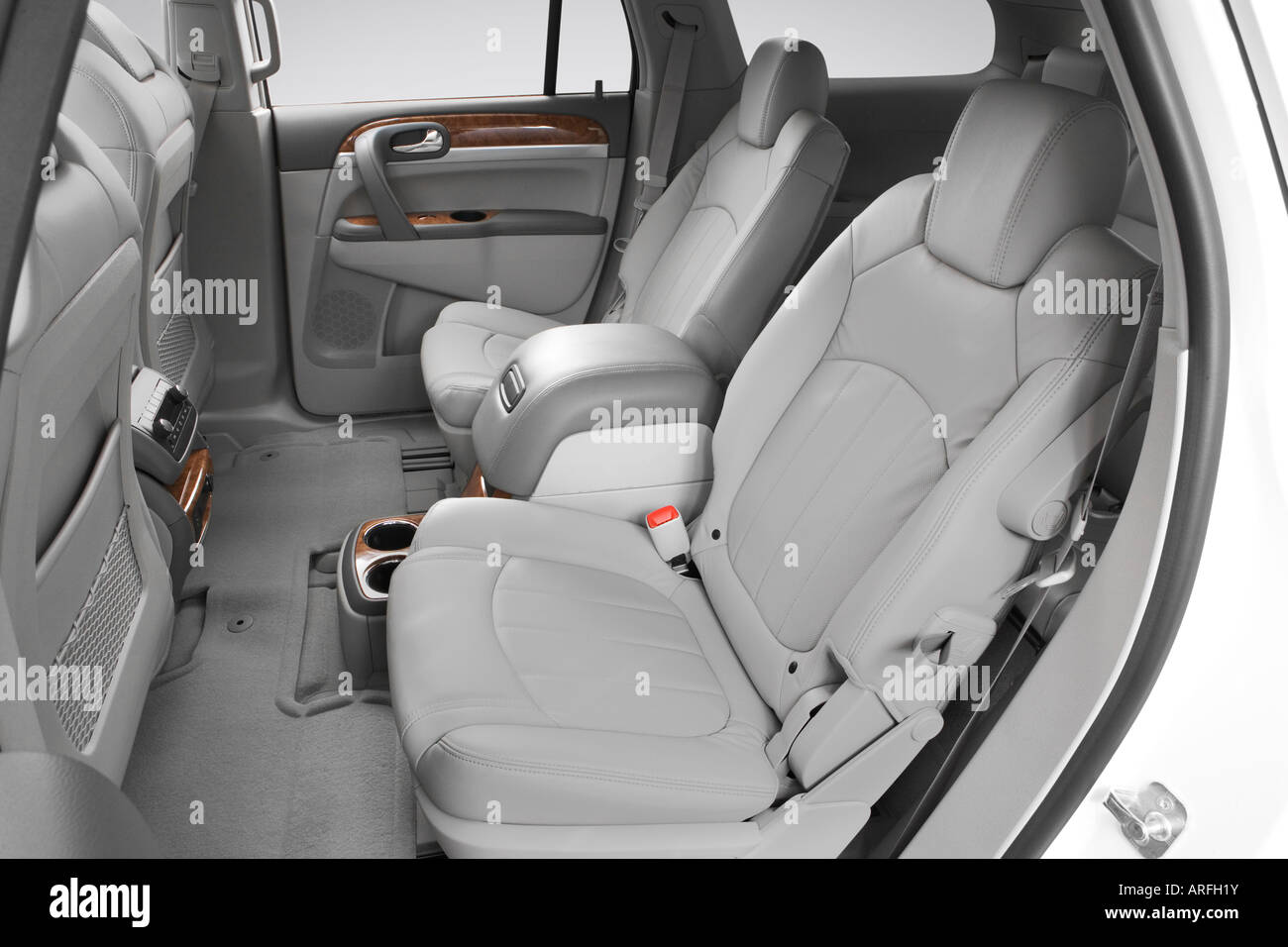 Buick Enclave Seating Capacity >> 2008 Buick Enclave Cxl In White Rear Seats Stock Photo
