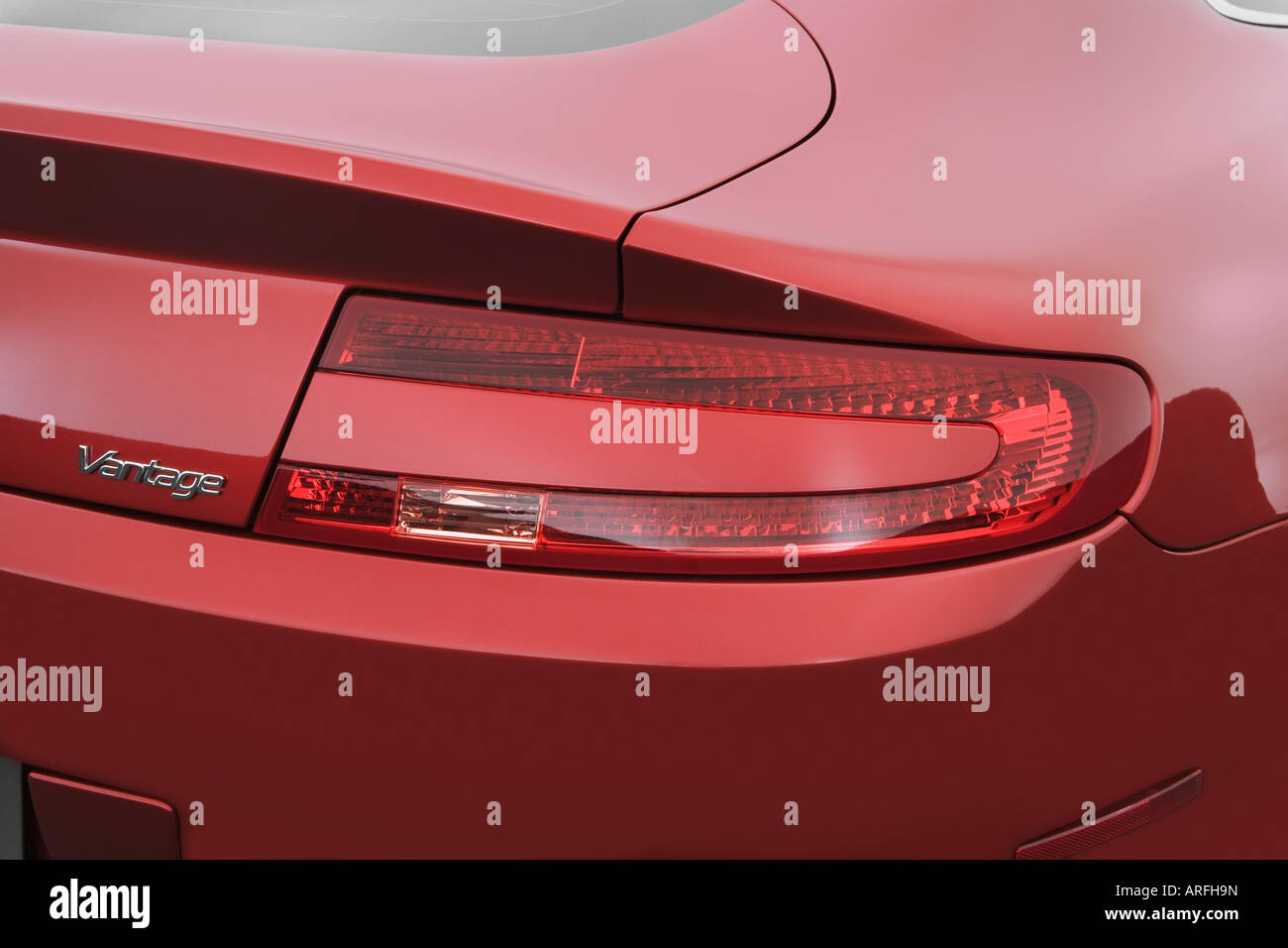 2007 Aston Martin V8 Vantage In Red Tail Light Stock Photo