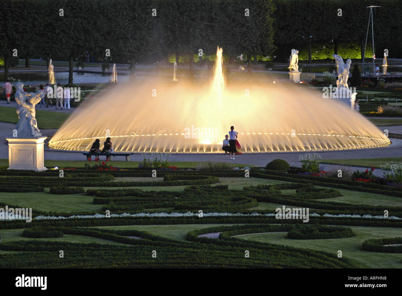 Illumination Of The Gardens Of Herrenhausen Germany Lower Saxony
