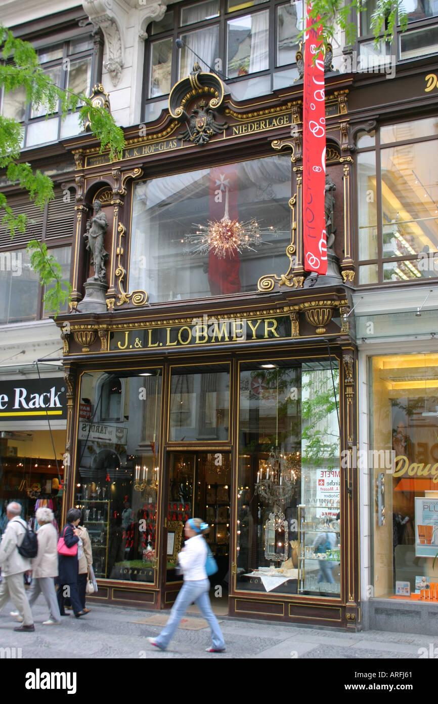J L Lobmeyr Christmas Shop Vienna Austria Stock Photo 5236320