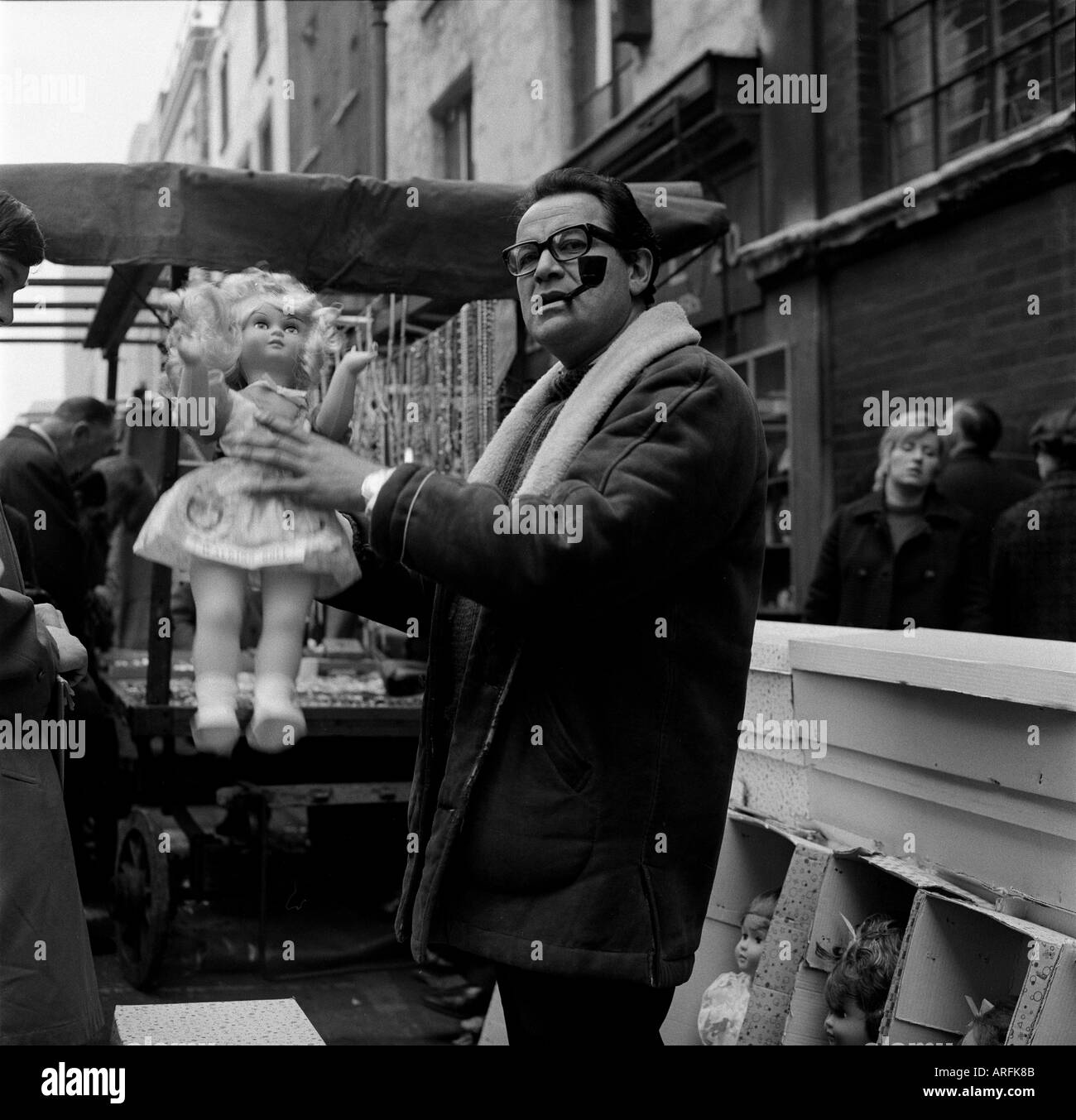 London, England.  Leather Lane Street Market 1970. Photographed by Brian Harris when he was 17 and a photographers assistant. - Stock Image