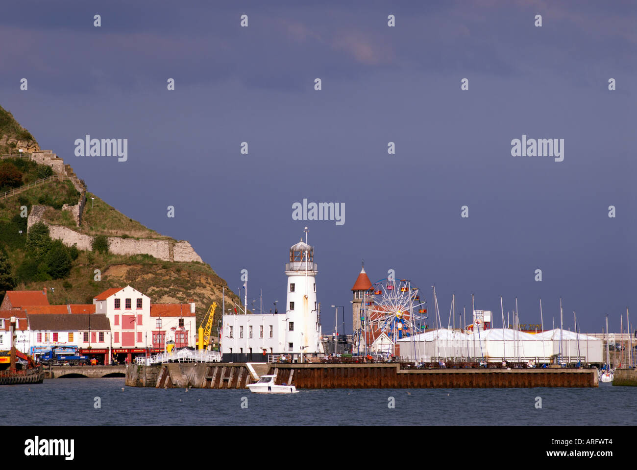 Funfair  and amusements in Scarborough in 'North Yorkshire' 'Great Britain' - Stock Image