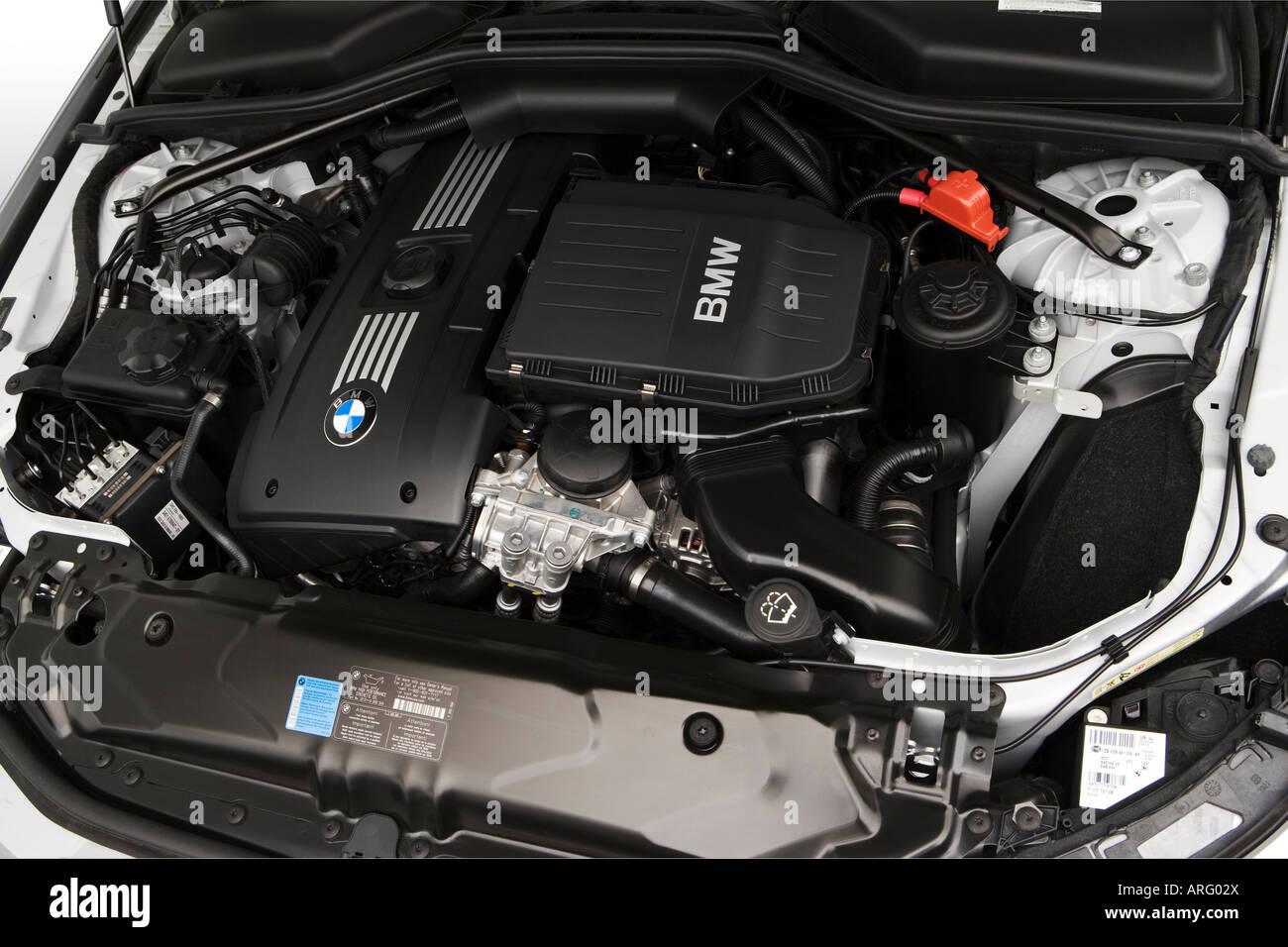2008 BMW 5-Series 535xi Sports Wagon in Silver - Engine