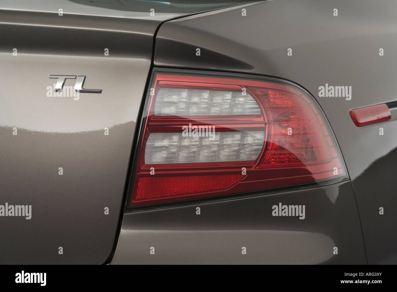 2007 Acura TL in Beige - Tail light - Stock Image