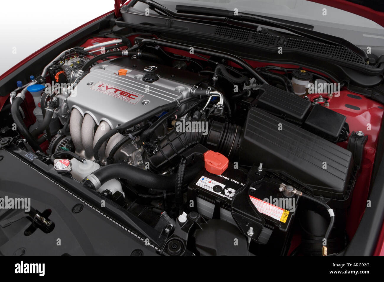 Acura TSX In Red Engine Stock Photo Alamy - 2007 acura tsx engine